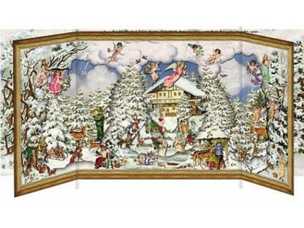 Adventskalender Coppenrath schöne Winterzeit 30x68cm