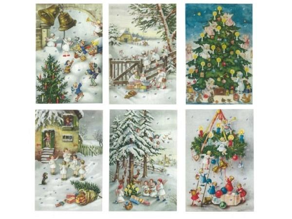 Adventskalender Korsch Nostalgische Weihnachtsengel