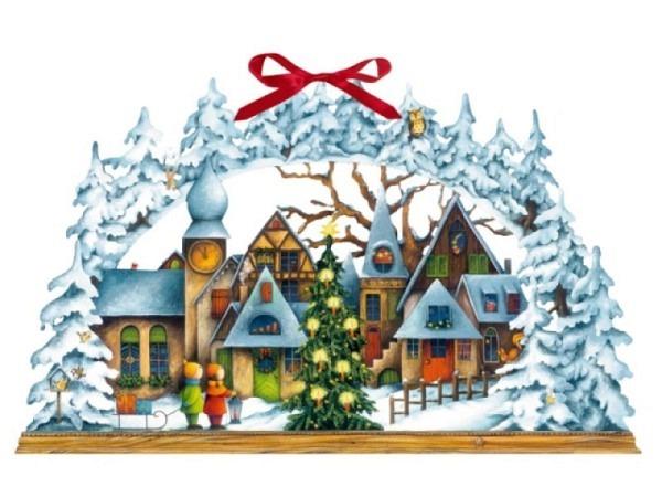 Adventskalender Lichterbogen Weihnachtsdorf