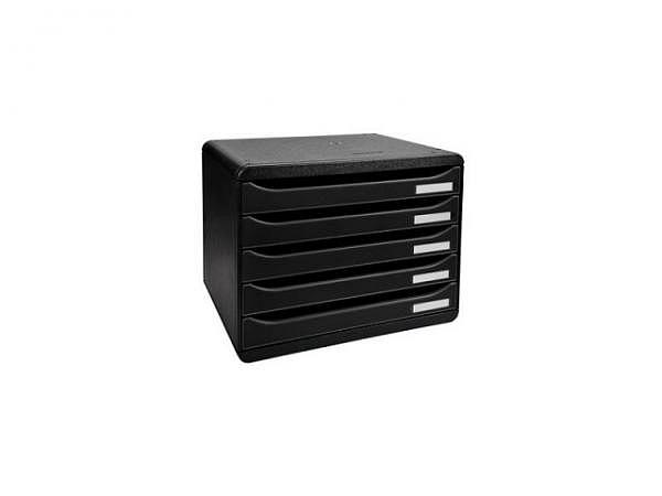Büroset Exacompta Big-Box Plus quer schwarz 5 Schubladen A4+
