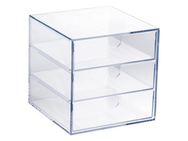 Büroset Palaset transparent mit 3x4,5cm Schubladen