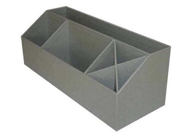 Bürobutler Bigso Box Papierbezug Elisa grau