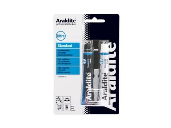 Leim Araldit Standard Tube blau klebt in 90Min. wasserfest, temperaturbeständig, für Glas, Metall, B