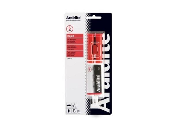 Leim Araldit Rapid Spritze 2Komponenten, klebt in 10Min. wasserfest, temperaturbeständig, für Glas,