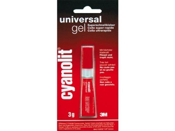 Leim Cyanolit rot Gel dickflüssig füllt Ritzen auf porösen Materialien 3g, fliesst und tropft nicht,