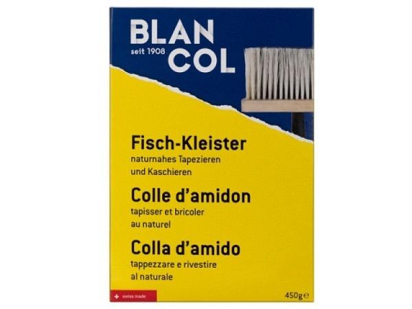 Kleister Blancol 450g aus Weizenmehlstärke, zum Tapezieren, Kaschieren, geruchlos, klebt Papier auf