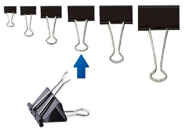 Aktenklammer Foldback schwarz 32mm Klemmbreite