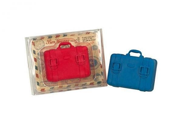 Radiergummi Bon Voyage, in Kofferform rot und blau assortiert