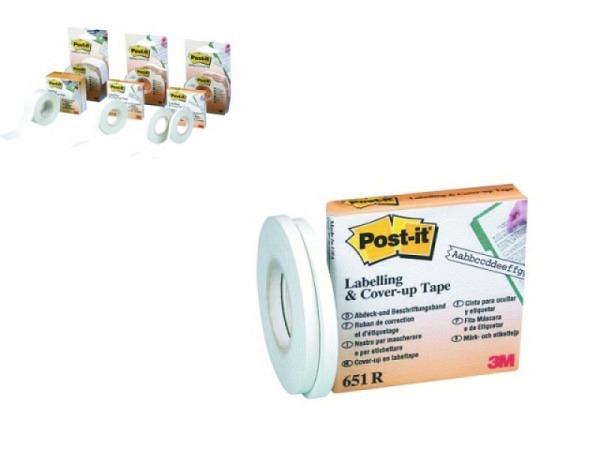 Korrekturband Post-it 25mmx18m Ersatzrolle ideal für das vorübergehende oder dauerhafte Beschriften,
