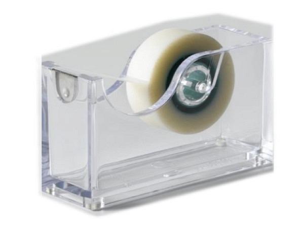 Abroller Palaset transparent glanz mit Anti-Rutschnoppen