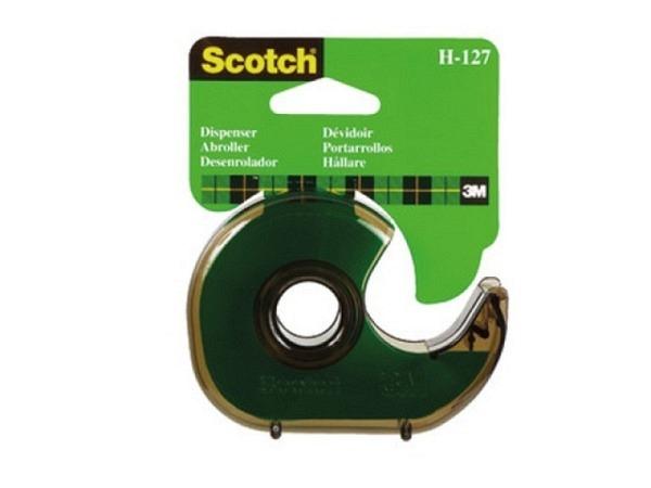 Abroller Scotch H127 Kunststoff rauch für 19mmx33m
