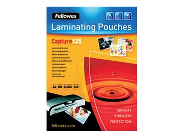 Laminierfolie Fellowes A4 216x303mm 2x125 Mikron, glänzend