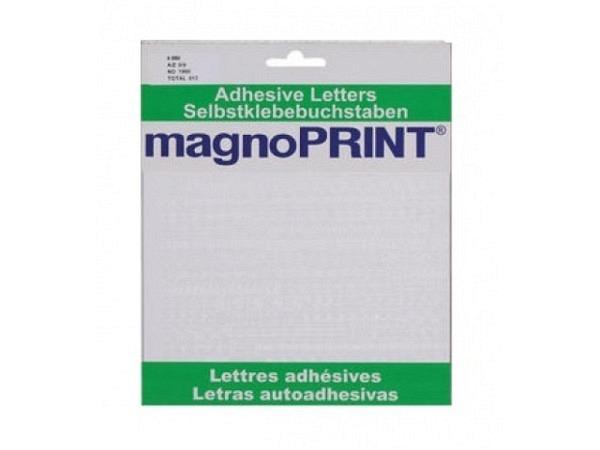 Buchstaben Magnoprint SK 6mm weiss A-Z/0-9