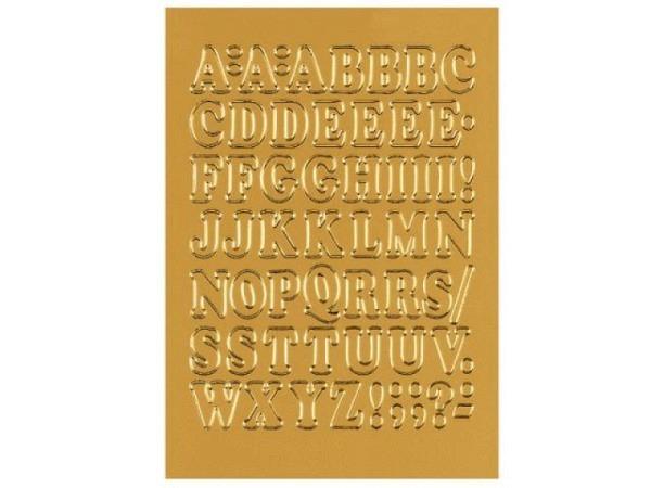 Buchstaben Herma 84x120mm A-Z 12mm hoch golden, ausgestanzt, selbstklebend, Originalnr. 4183