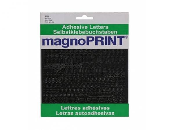 Buchstaben Magnoprint SK 8mm schwarz A-Z/0-9, wetterfest, lichtecht