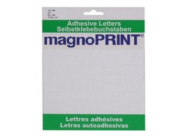 Buchstaben Magnoprint SK 12,5mm weiss A-Z