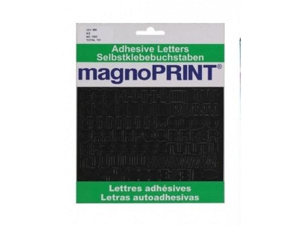 Buchstaben Magnoprint SK 12,5mm schwarz A-Z, wetterfest, lichtecht