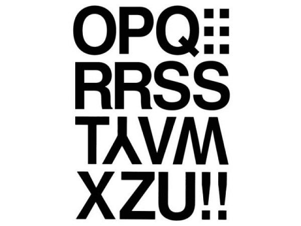 Buchstaben Herma 84x120mm O-Z 33mm hoch schwarz, auf weisser wetterfester Kunststofffolie, Originalnummer 4188