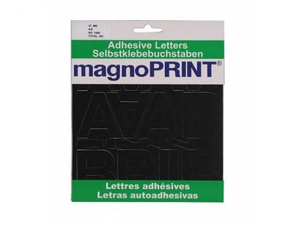 Buchstaben Magnoprint SK 47mm schwarz A-Z