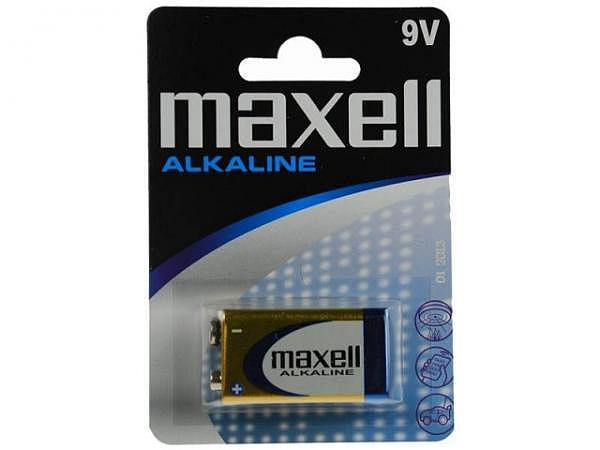 Batterien Maxell Alkaline Grösse 9V eckig LR61 1Stk.