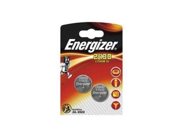 Batterien Energizer Knopf CR2430 3V 2Stk. im Blister