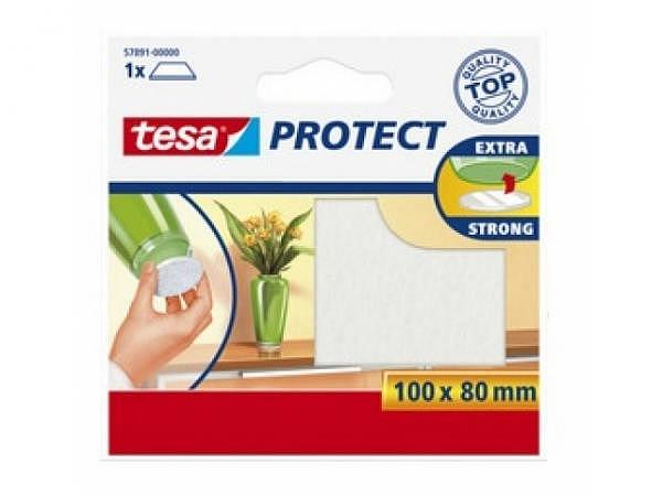 Filzgleiter Tesa braun 100x80mm, beliebig zuschneidbar, selbstklebend, 57891-79