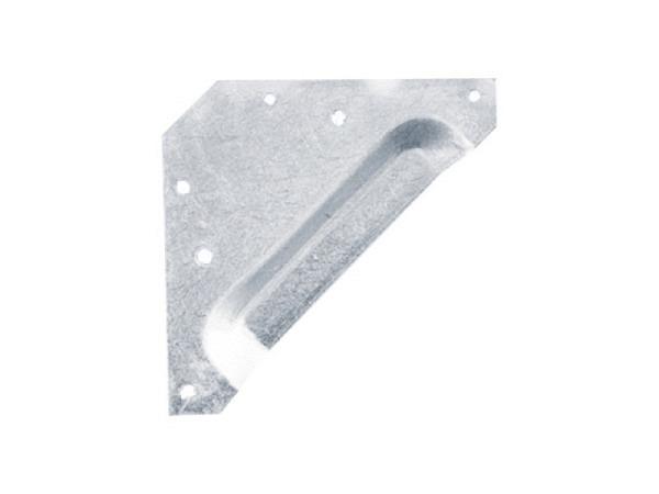 Bildaufhänger Lotfix Muschel dreieckig mit Einbuchtung, nicht sichtbare Aufhänger zum Annageln oder Anschrauben auf der Rahmenrückseite. Durch die Ausbuchtung ist die Muschel-Ausführung speziell für flache Bildrückseiten geeignet. Verstärkt gleic..