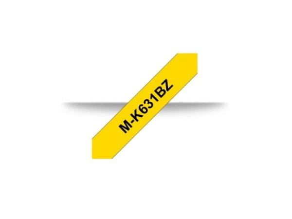 Beschriftungsband Brother P-Touch M 12mm schwarz auf gelb, M