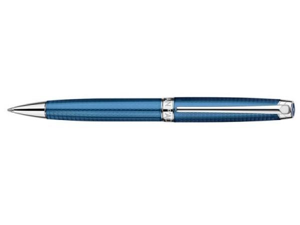 Kugelschreiber Caran dAche Léman Grand Bleu, feine Dekor