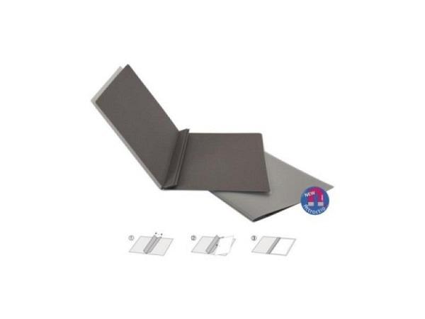 Selbstbinder Biella Attraction A4 dunkelgrau, magnetische Klemmmappe