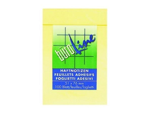 Haftnotizen Büroline 51x76mm Block à 100Blatt