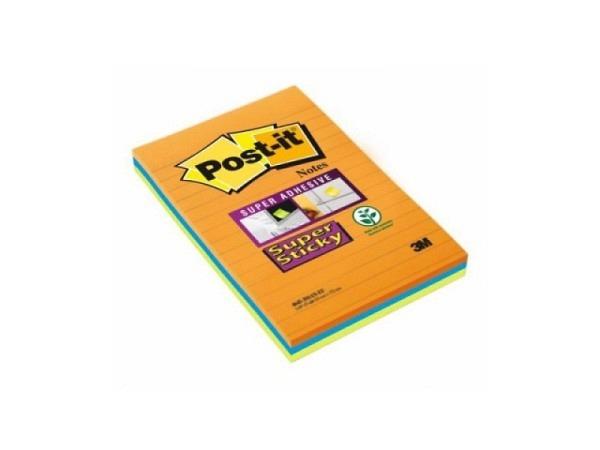 Haftnotizen Post-it 101x152mm Super Sticky liniert
