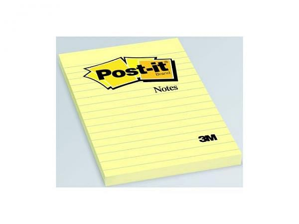 Haftnotizen Post-it 102x152mm gelb liniert 100Bl. 660