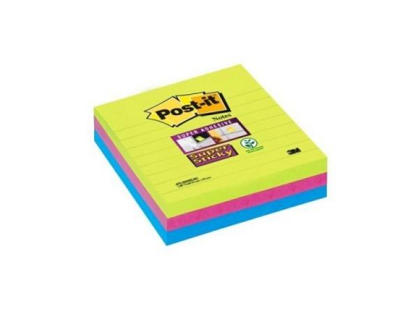Haftnotizen Post-it 101x101mm Super Sticky, liniert
