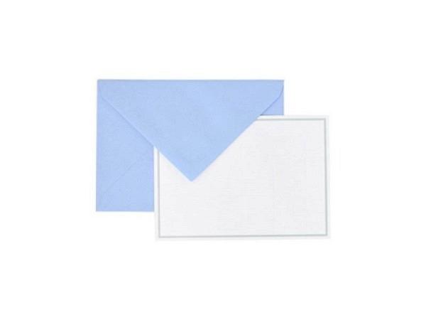 Couverts Lalo Linea 114x162mm blau Spitzverschluss