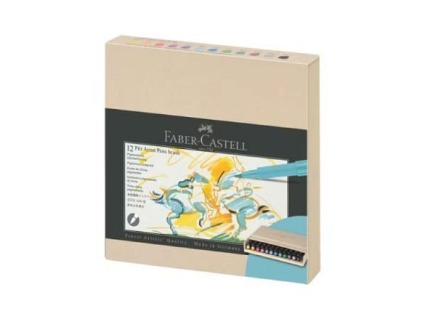 Filzstift Faber-Castell Pitt Artist Pen 8er Set Black