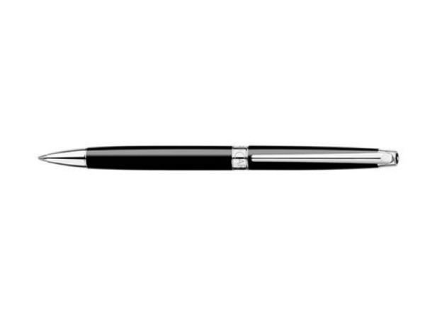 Kugelschreiber Caran dAche Léman Ebony Ebenholzschwarz Slim