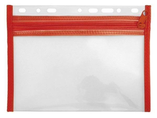 Zeigtaschen Veloflex Velobag XS A4 rot PP-Folie textilverst.