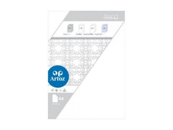 Transparentpapier Artoz Perga Pastell A4 weiss 100g/qm